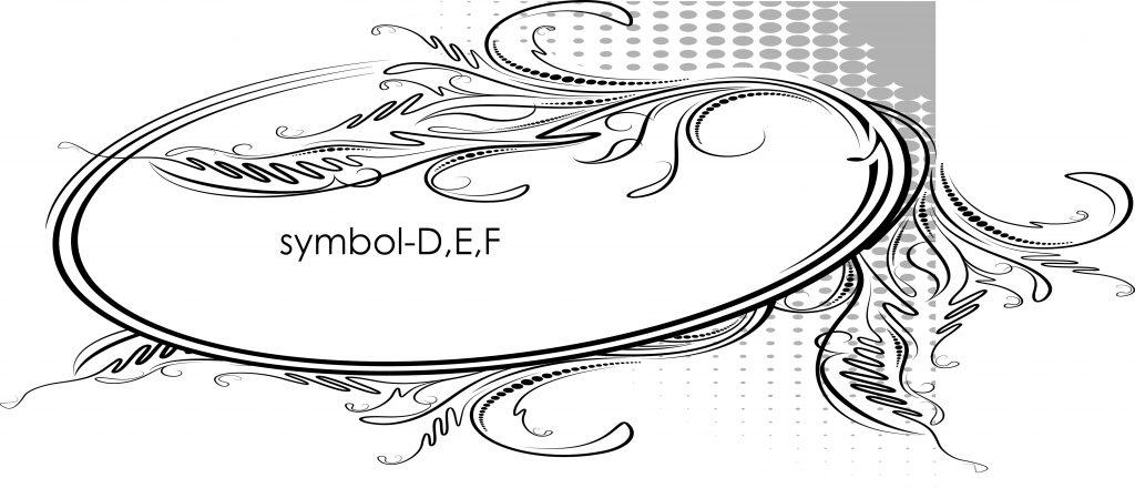 symbol-D,E,F